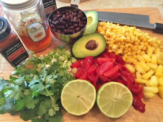 Quinoa Salad with Black Beans, Corn in Honey Lime Vinaigrette 049 (640x480)