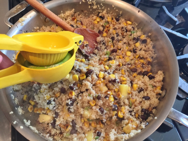 Quinoa Salad with Black Beans, Corn in Honey Lime Vinaigrette 082 (640x480)