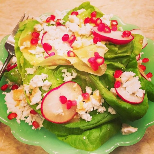 Butter Lettuce Flower  Recipe! Spring salads are here! livelovelaughfoodhellip