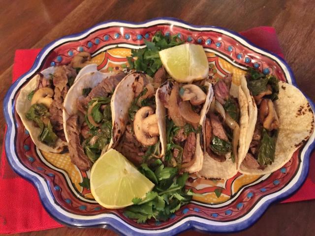 Carne Asada, Mushrooms & Swiss Chard Tacos 109 (640x480)
