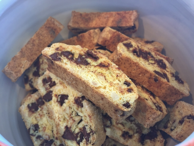 Chocolate Orange Biscotti With Almonds Recipe — Dishmaps