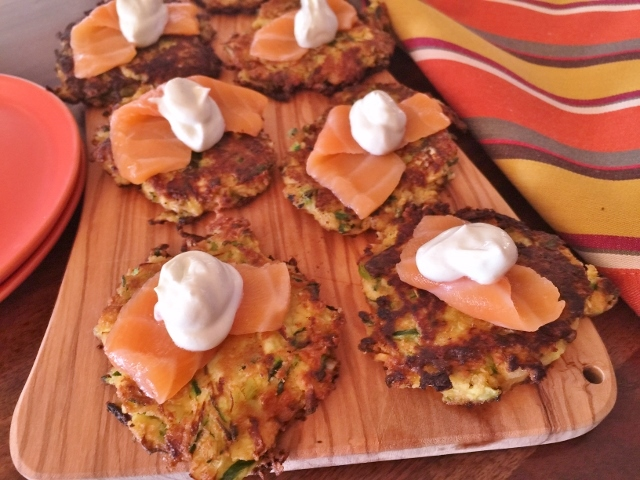 Zucchini Cakes with Smoked Salmon – Recipe! Image 1