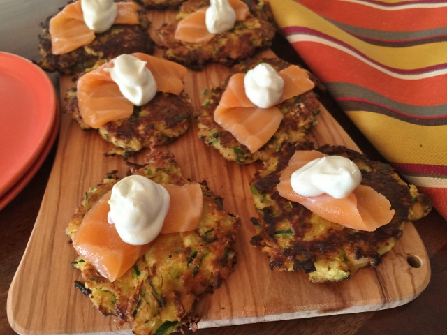 Zucchini Cakes with Salmon Sashimi & Wasabi Cream 062 (640x480)