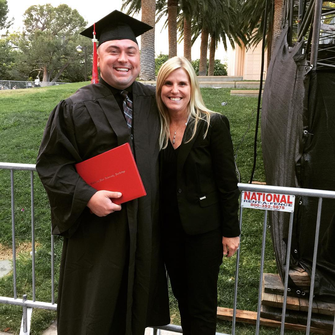 He did it! Congratulations LJ! graduate csun collegeeducated celebrate