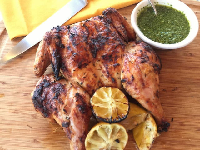 Grilled Lemon Spatchcocked Chicken with Basil Arugula Oil 116 (640x480)