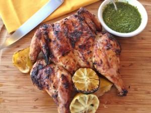 Grilled Lemon Spatchcocked Chicken with Basil Arugula Oil 131 (640x480)