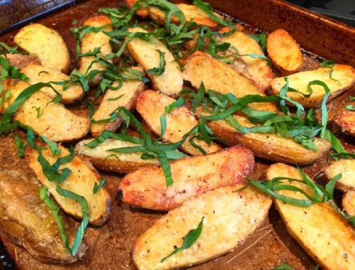 Parmesan Basil Fingerlings – Recipe!