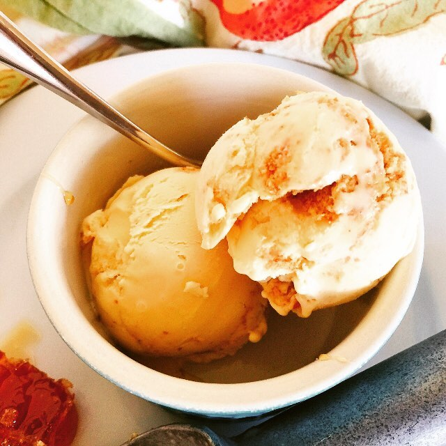 Hot Enough?? Cool down with this Honey Cheesecake Ice Creamhellip