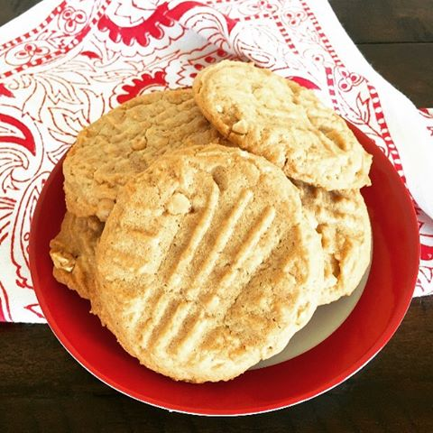 Going Old School Today  Double Peanut Butter Cookies Recipe!hellip