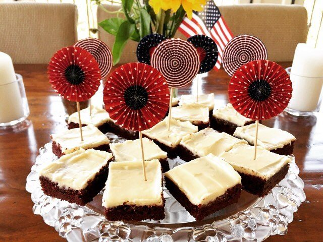 4th of July is coming and these Red Velvet Brownieshellip