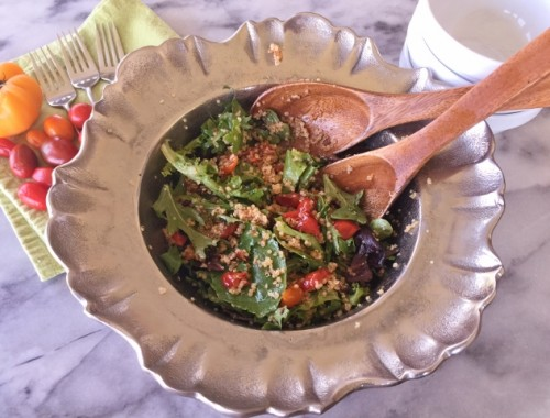 Bacon, Lettuce, Charred Tomato & Quinoa Salad – Recipe!