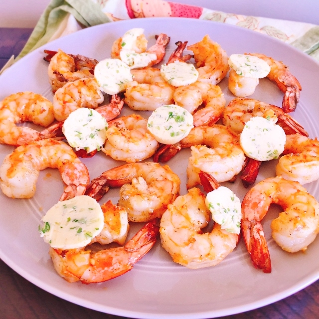 Grilled Garlic Shrimp with Scallion Butter – Recipe! Image 1