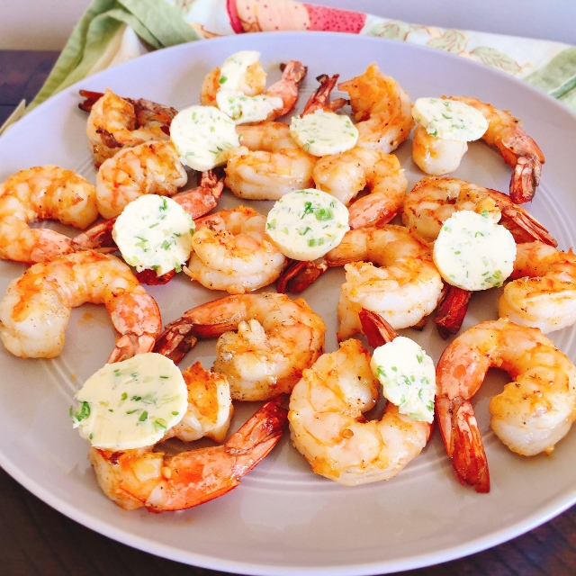 Grilled Garlic Shrimp with Scallion Butter 028 (640x640)