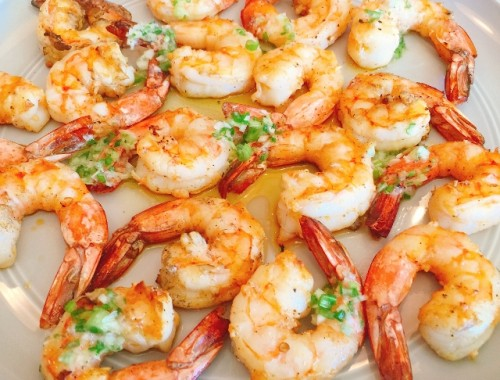 Grilled Garlic Shrimp with Scallion Butter – Recipe!