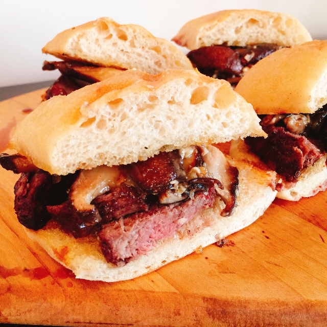 Grilled Steak, Shitake & Brie Sandwiches – Recipe! Image 1