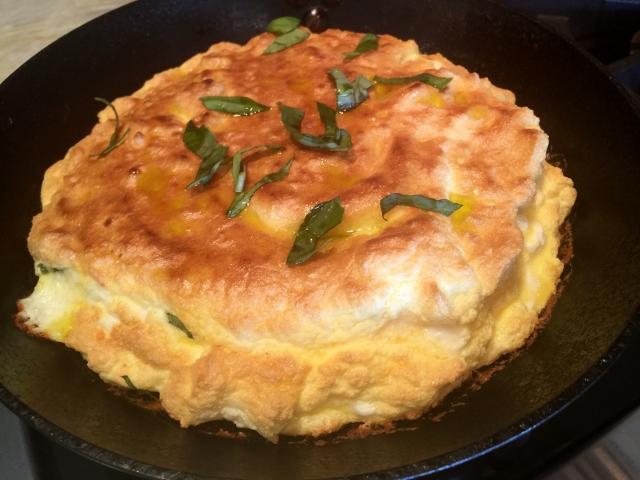 Souffle Omelette with Feta & Basil – Recipe! Image 1