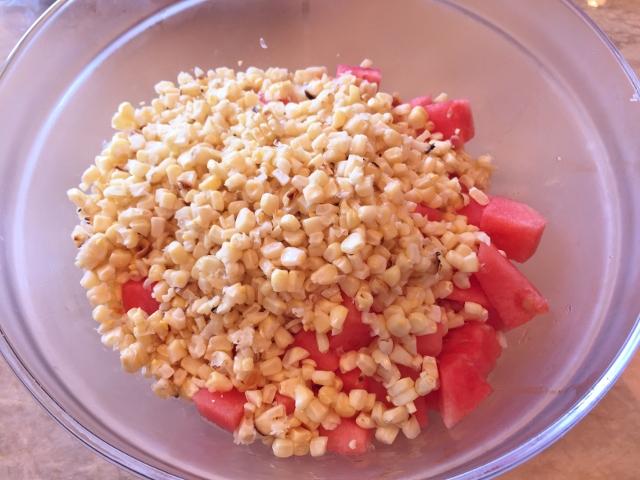Watermelon, Grilled Corn & Heirloom Tomato Salad 005 (640x480)