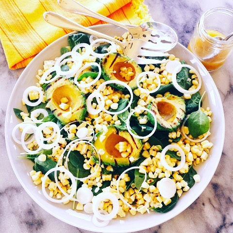 Keep Cool with this Grilled Avocado amp Sweet Corn Salad!hellip