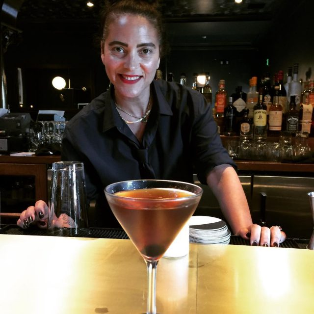 First Manhattan made at Lunettas soft opening by Jolie! Cheers!hellip