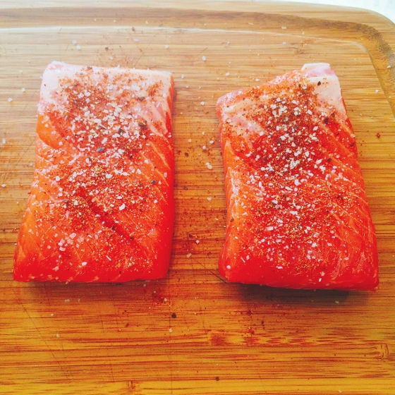 Grilled Argetinian Salmon with Peanut Cilantro Sauce 018 (560x560)