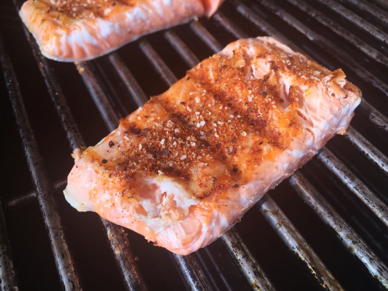Grilled Argetinian Salmon with Peanut Cilantro Sauce 027 (560x420)