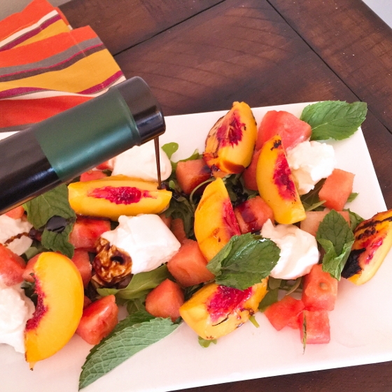 Watermelon & Grilled Peach Salad with Balsamic Drizzle 030 (560x560)