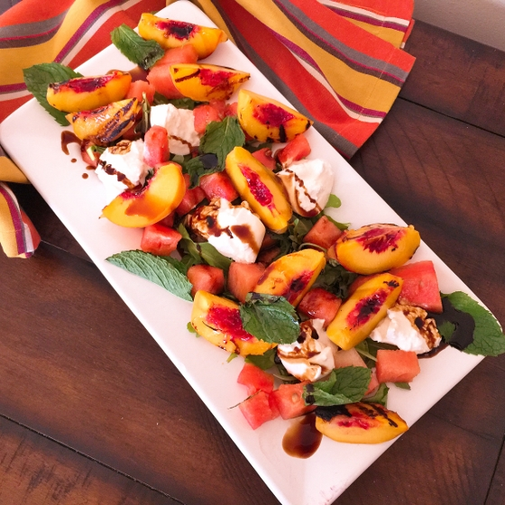 Watermelon & Grilled Peach Salad with Balsamic Drizzle 050 (560x560)