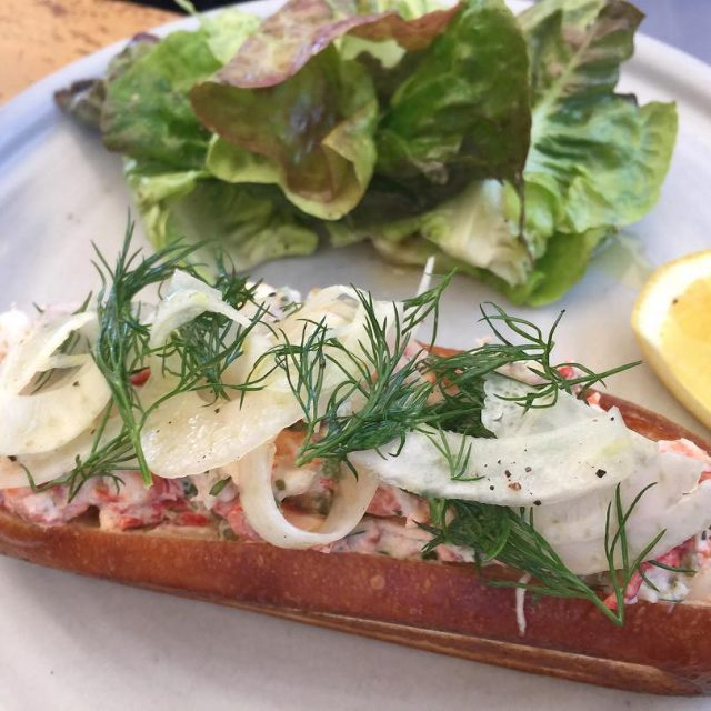 Lobster Roll at Rose Cafe  Venice! Delightful! livelovelaughfood rosecafevenicehellip