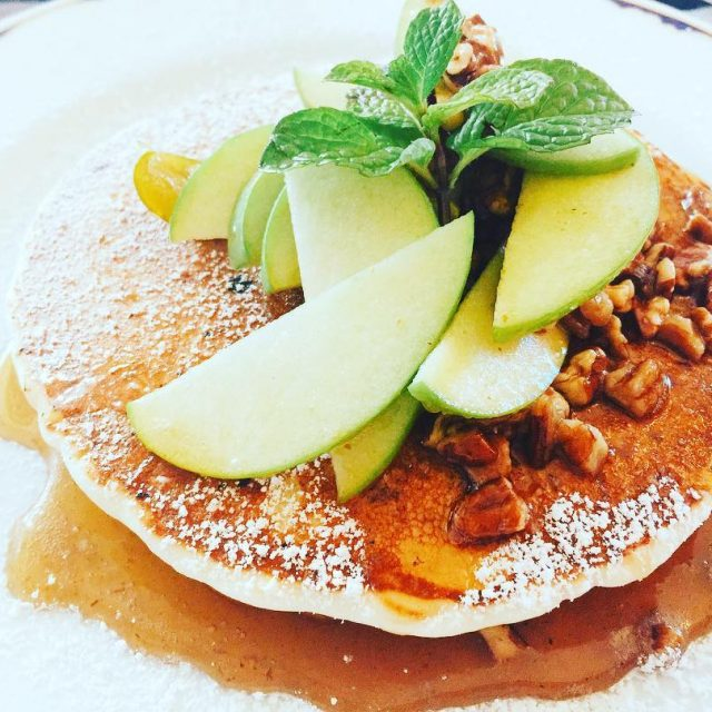 Apple Pecan Pancakes santaynezinn livelovelaughfood pancakes santaynez breakfast