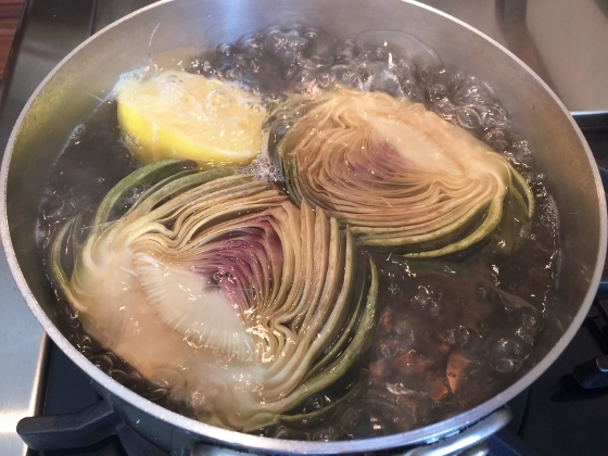 Grilled Artichoke with Toasted Garlic & Fig Butter 006 (560x420)