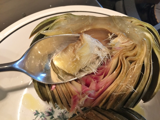 Grilled Artichoke with Toasted Garlic & Fig Butter 070 (560x420)