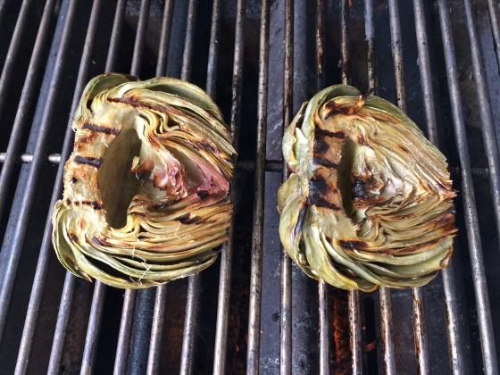 Grilled Artichoke with Toasted Garlic & Fig Butter 079 (560x420)