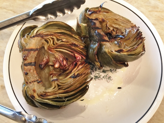 Grilled Artichoke with Toasted Garlic & Fig Butter 082 (560x420)