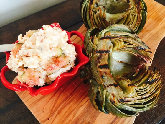 Grilled Artichoke with Toasted Garlic & Fig Butter 111 (560x420)