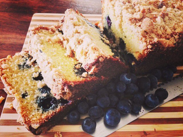 Who doesnt cake for Breakfast?? This Blueberry Cornmeal Breakfast Cakehellip