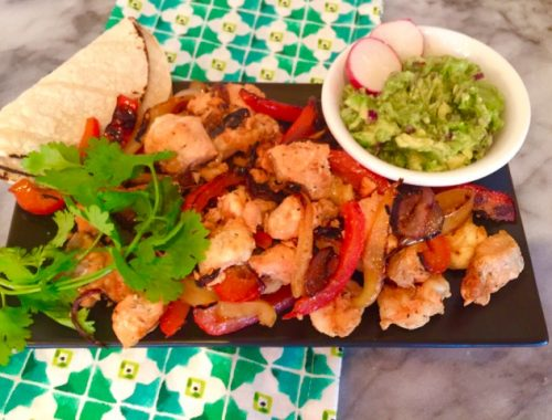 Salmon & Shrimp Fajitas – Recipe!