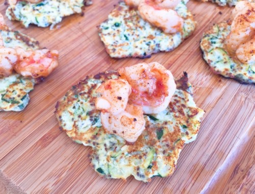 Zucchini & Ricotta Fritters with Sauteed Shrimp – Recipe!