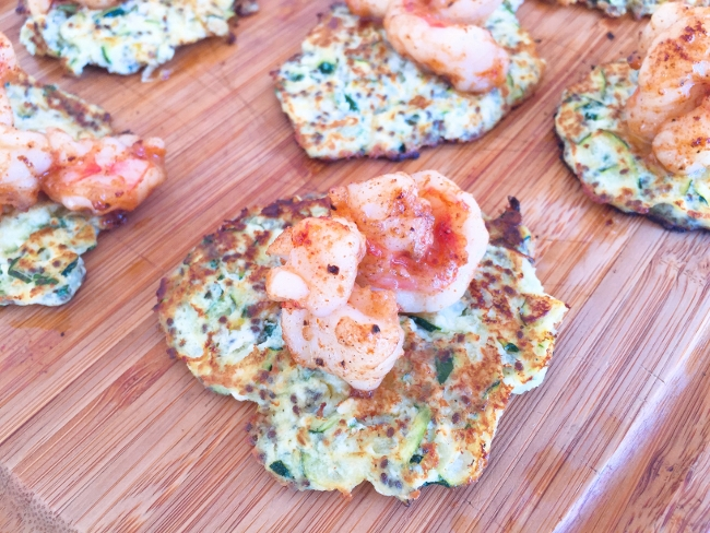 Zucchini & Ricotta Fritters with Sauteed Shrimp – Recipe! Image 1