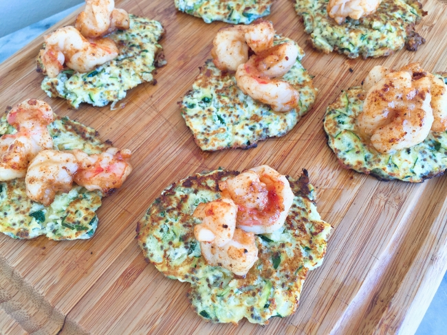 zucchini-ricotta-fritters-with-sauteed-shrimp-011-650x488