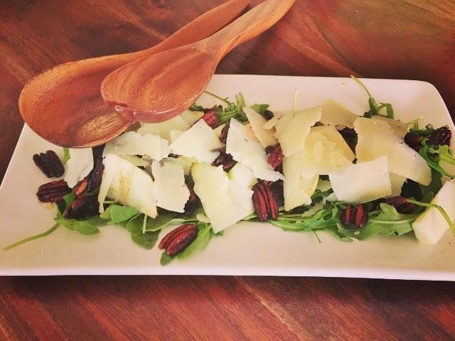 Craving this refreshing seasonal salad with Arugula Manchego amp Appleshellip