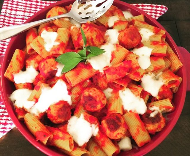 Nothing say comfort Comfort Food better than Chicken Meatball Rigatoni!hellip