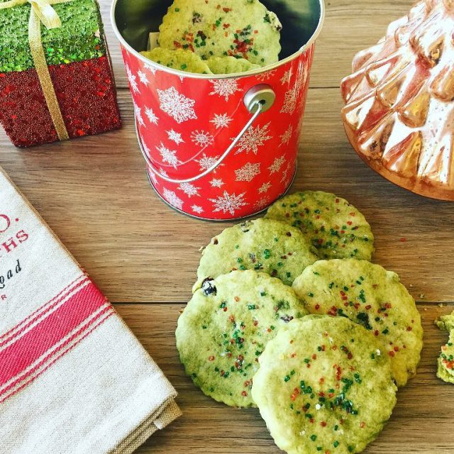 Marbled Matcha amp Cranberry Shortbread! Holiday baking is underway! Recipehellip