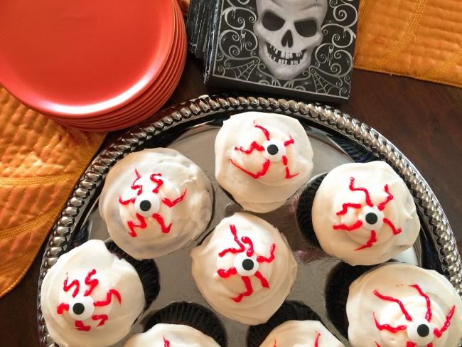 Creepy Dark Chocolate Cupcakes with Cream Cheese Frosting – Recipe!  Happy Halloween! Image 1