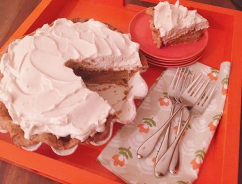 Pumpkin Pie with Brown Sugar Meringue – Recipe!