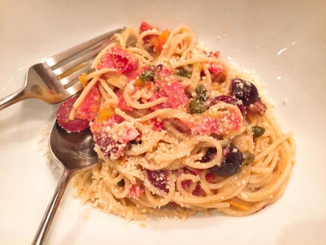 Pasta Puttanesca with Salami – Recipe! Image 1