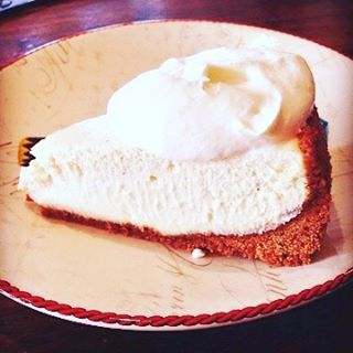 Dont forget the Cheesecake!! Eggnog Cheesecake with Rum Whipped Creamhellip