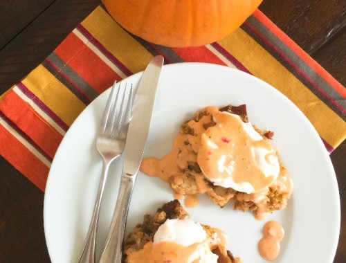 thanksgiving-dressing-eggs-benedict-with-cranberry-chipotle-hollandaise-063-650x650