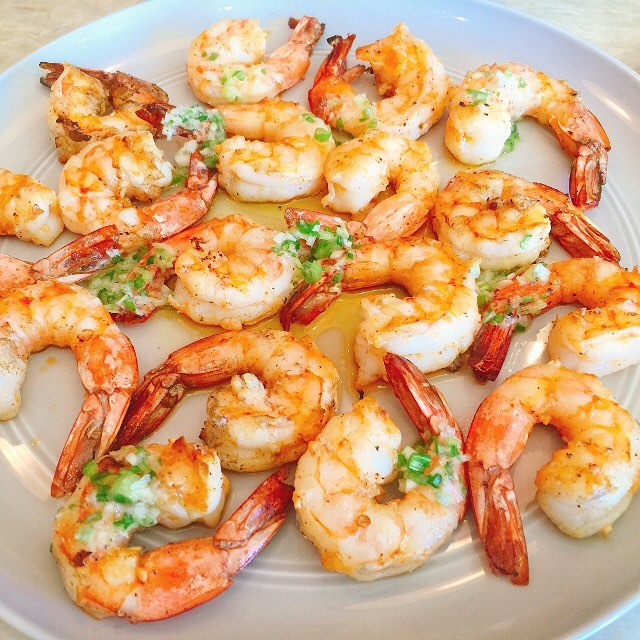 Grilled Garlicky Shrimp with Scallion Butter! Easy Summertime Meal! livelovelaughfoodhellip