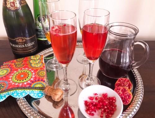 Pomegranate Champagne Sparkler – Recipe!  Happy New Year!