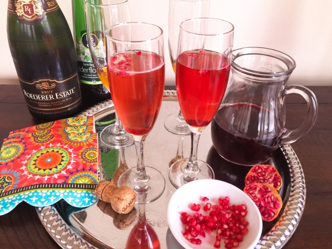 Pomegranate Champagne Sparkler – Recipe!  Happy New Year! Image 1